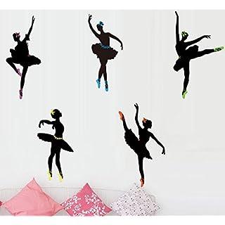 Wandsticker Ballerina Farbe schwarz Wandtattoo Wandbilder Zimmer Deko Tänzer