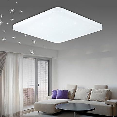 VGO® 60W LED Starlight Effekt Deckenleuchte Eckig Deckenlampe Kaltweiß  Wohnraum Deckenbeleuchtung Badezimmer Geeignet: Amazon.de: Beleuchtung