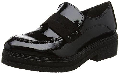 Tamaris Damen 24710 Slipper, Schwarz (Black), 39 EU (Canvas-loafer Schwarze)