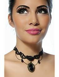 Gothic-Collier schwarz nikelfreies Metall #12739