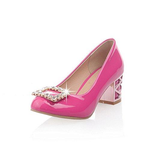 A scarpe Balamasa Pompe Chiodati Gomma Le tacchi Rosa Mettere Su Enormi Donne Per Rosso Gattino Rt4wtgqUP