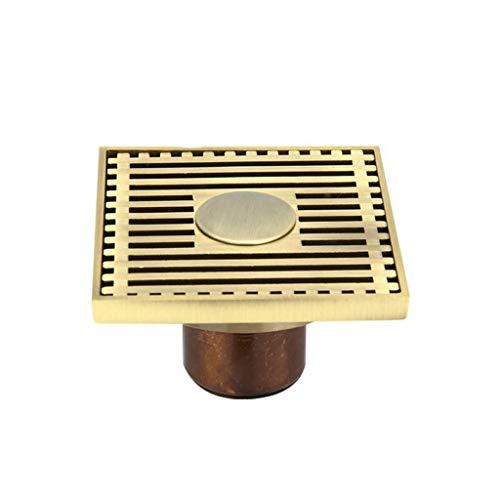 fallrohr abdichten LXDXKA Kupfer Bodenablauf Anti-Geruchs-Geruchs-Insekt-Edelstahl-Filter-große Verschiebung blockiert Nicht T-Art Fußboden-Abfluss passend für Badezimmer-Toiletten-Küche (Farbe : B)