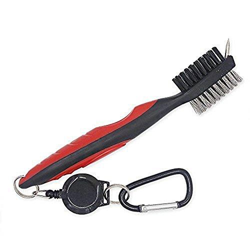 MTSZZF Zweiseitige Golf Reinigungs Pinsel Sport Fledermaus Brush/Leicht zu Benutzen,Reinigen und Mitbringen/Ein Muss und Gute Geschenk zu Golfer