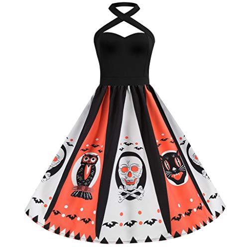 Für Sailor Kostüm Jungs - Lazzboy Frauen Vintage Halfter Halloween 50er Jahre Hausfrau Abend Party Abendkleid(Schwarz,S)