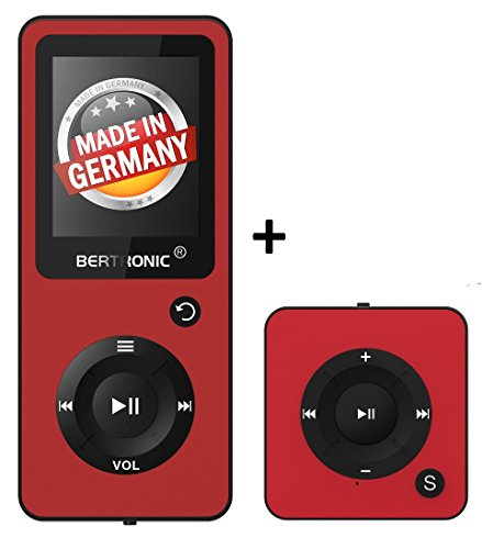 BERTRONIC Royal BC02 und BC05 MP3-Player ★ Bis 100 Stunden Wiedergabe ★ Farbdisplay ★ Radio | Portabler Player | Audio-Player für Sport mit Micro SD-Kartenslot
