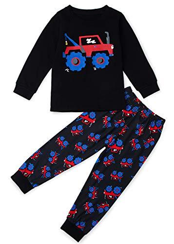 (Halloween Pyjama Jungen Fahrzeug Baumwolle NachtwäSche Langarm Herbst Winter Kinder Pyjama Sets)