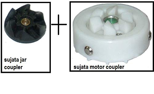 Jar Coupler and Motor Coupler for Sujata Juicer Mixer Grinder (White)