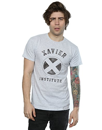 Marvel hombre X-Men Xavier Institute Camiseta X-Large cuero gris
