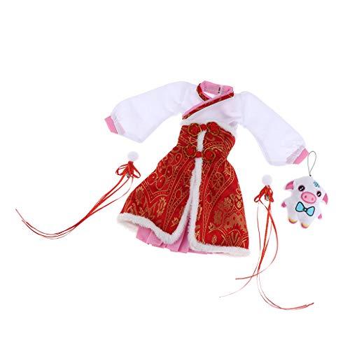 KESOTO Puppen Puppenkleidung Bekleidung Chinesischen Puppenkleider für 60cm Babypuppen und Girl Doll, ()