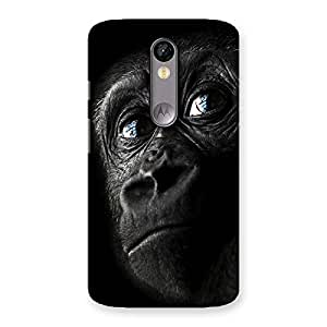 Stylish King Kong Blue Eyes Back Case Cover for Moto X Force