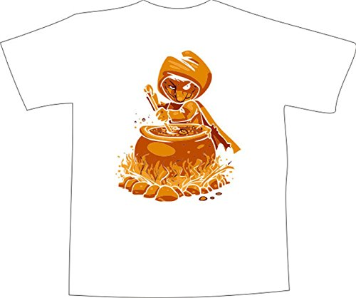 T-Shirt E037 Schönes T-Shirt mit farbigem Brustaufdruck - Logo / Comic ...