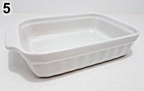 Kuchenform Ofenform Steingut eckig rund blau weiß rot beige (Modell 5) (11 X 13-kuchenform)