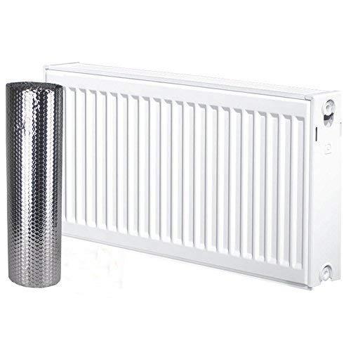 Cada paquete es de 5m de largo por 60cm de ancho y cubre aproximadamente 3radiadores de tamaño medio, pero se ajustará a radiadores de cualquier tamaño en cualquier habitación.Se instala fácilmente detrás de los radiadores sin necesidad de retirar...