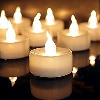 12pcs Warmweiß Teelichter Led Timer Flackern, CR2032 Batteriebetrieben Kerzen Elektrisch Hell für Weihnachten, Aussen Urlauben Dekorationen