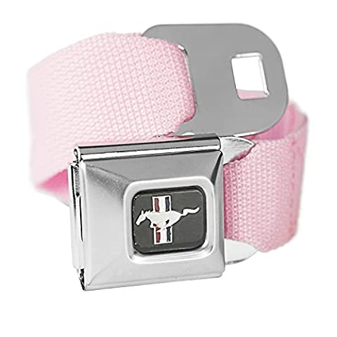Pink Ford Mustang Seatbelt Buckle Fashion Belt - Officially