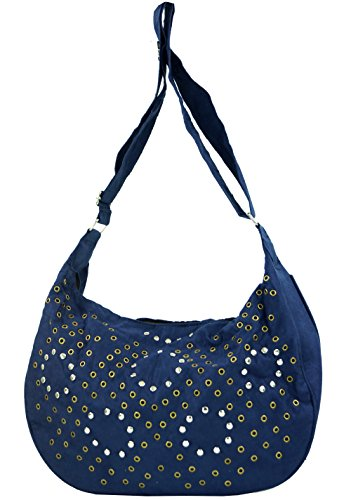 Schultertasche mit Nieten Bali / Schultertaschen Blau