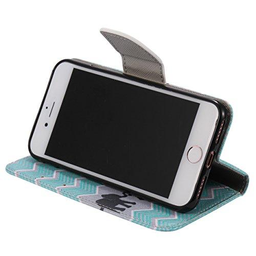 WYSTORE apple iphone 7 Coque,Flip Style Ultra Slim PU Cuir Couverture Wallet Case Avec SupportFonction Coque Magnetic Closure PU Étui Portefeuille -Q06 Q06
