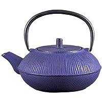 Giappone Cast Iron Pot smalto Wisteria rivestito modello acqua bollita Tea 800ml