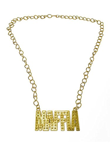Fancy Ole - Kostüm Accessoire Mottoparty Mafia- Gangster Metall Goldkette, Gold