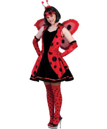 Pierro´s Kostüm Marienkäfer Lumi sexy Tierkostüm Damenkostüm Weste Rock Haarreif mit Ohren Größe 36 38 40 42 44 46 für Karneval, Fasching, Halloween, Motto Party / Tiere, (Für Süßeste Kostüme Erwachsene Halloween)