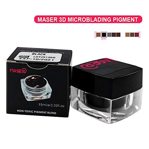 Tattoo Ink BIOMASER 3D Microblading Pigment profesionell Tattoofarbe Tattoofarbstoff Tätowierung Tätowierfarbe für Permanent Make-up Augenbraue Lip und EyeLiner (Black)