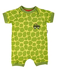 Sigikid Baby-Junge-Overall, kurz-Spieler-Schlafanzug Sommer Schlafstrampler, Grün (Green Oasis 397), (Herstellergröße: 74)