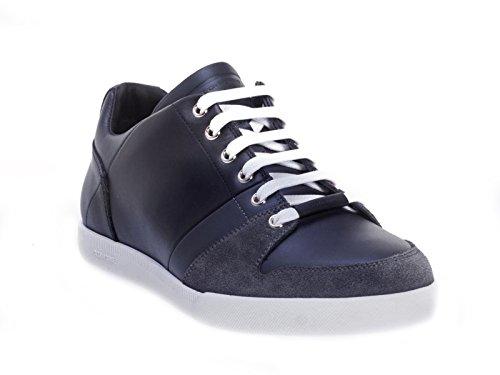 baskets-dior-sneakers-homme-en-cuir-veau-noir-bleu-code-modle-3sn129wue-taille-42-eu-8-uk