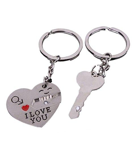 Ularma Nueva pareja te amo corazon anillo de llavero