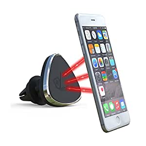 supporto da auto magnetico nero -VeoPulse - Porta cellulare - (iphone 6 6plus 5 5S 4 4S...,samsung galaxy S4 S5 S6 Note 3 4 ,htc,nokia,nexus,LG...)