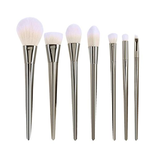 Susenstone 7PCs Maquillage Blush Brush Set, Silver