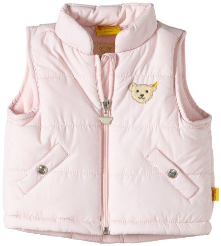 Steiff Unisex - Baby Weste 0006827 O. Arm, Einfarbig, Gr. 74, Rosa (Barely Pink)