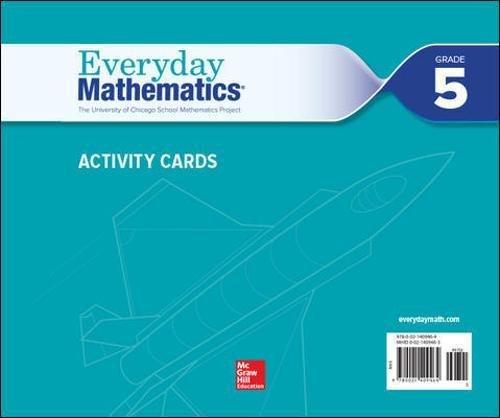 Everyday Mathematics 4, Grade 5, Activity Cards