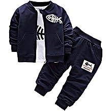 a22924faf92a01 BINIDUCKLING Neonato Cappotto + Pantaloni + Camicie Set da bambino Toddlers  Casual 3 pezzi Abiti