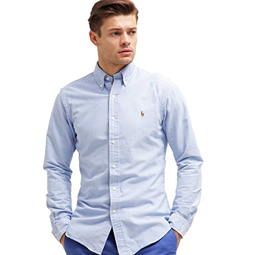 Ralph lauren - camicie classic oxford (m, blu)