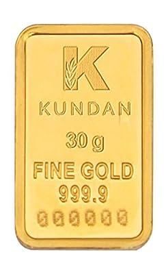 Kundan 30 gm, 24KT Yellow Gold Bar
