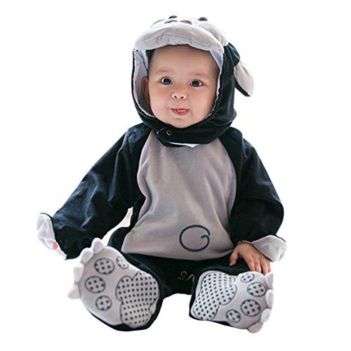 Baymate Unisex Bebés Monos Calentar Rompers Infantil Jumpsuits con Capuchado Traje Animal de Cosplay Halloween Estilo1 73