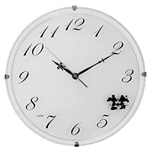 Disney horloge murale DIC-5021 Mickey & Minnie (Blanc) 9817ao (japon importation)