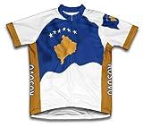 kosovo Drapeau à manches courtes Maillot de cyclisme pour femme Large Blanc - blanc