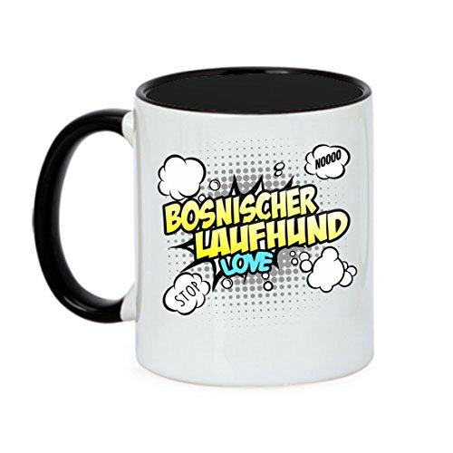 Hund Tasse COMIC - BOSNISCHER LAUFHUND Rauhaariger Bosnischer Laufhund - Hunde Fun Kaffeebecher Siviwonder