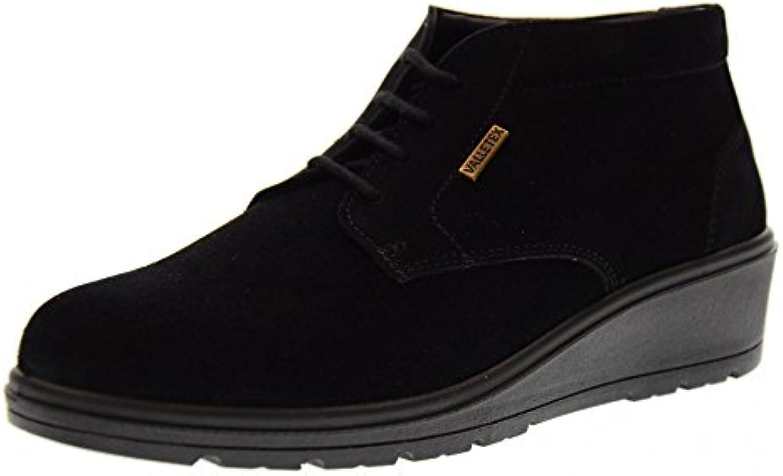 Valleverde Altos Zapatos con Cuña V18505 Negro