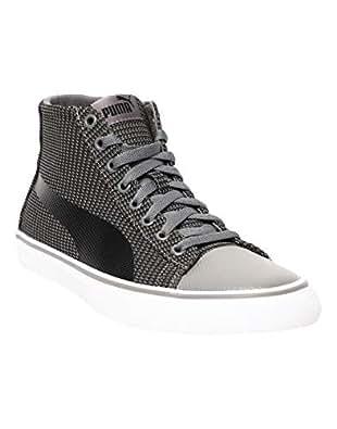 PUMA Men's Rap Mid Knit v2 IDP Charcoal Gray Black Sneakers-10 UK/India (44.5 EU) (4060979668621)