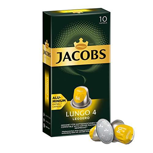Jacobs Kaffeekapseln Lungo Leggero, Intensität 4 von 12, 50 Nespresso®* kompatible Kapseln, 5 x 10 Getränke