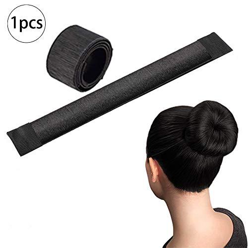Xiton 1 PC Ciambella Per Chignon Hair Magic Chignon Accessorio Per Capelli Fai Da Te Hair Styling Tool Chignon Facile Per Capelli Per Le Donne Ragazze (Nero)