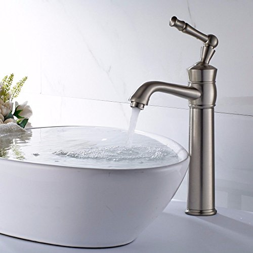 Moderne einfache heiße und kalteKupfer küchenbecken wasserhähne küchenarmatur AlleKupfer und nickel gebürstet bad waschtischmischer Pagode über aufsatzbecken Waschbecken heißes und kaltes wasserhahn -