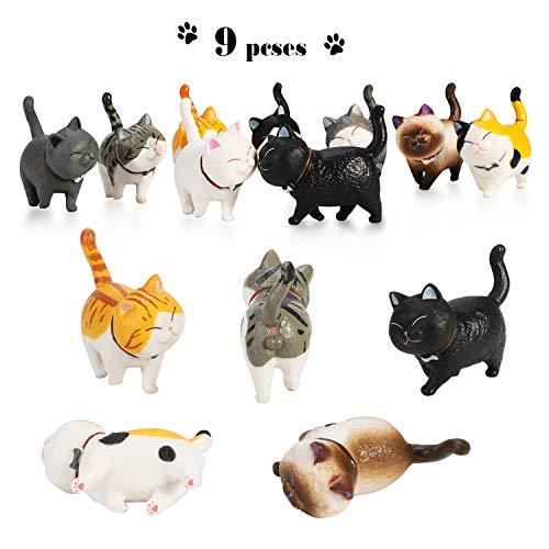 Estas lindas y detalladas figuras de animales merecen ser recolectadas, decorando la librería para niños, el escritorio y la habitación. Es un regalo y premio increíble para aquellos niños a los que realmente les gustan los gatos, también podría ser ...