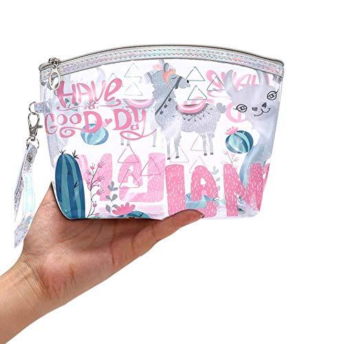 4471cad49fb1 Cartoon Girl Alpaca Cosmetic Bag Mujer Cosmetic Bag Set Cosmetic Bag  Transparent Nuevo PVC Transparent Wash