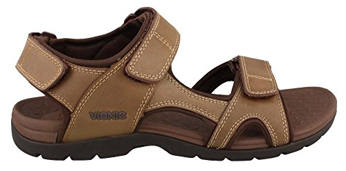 Vionic Mens Gerrit Sandal Leather Sandals Marron