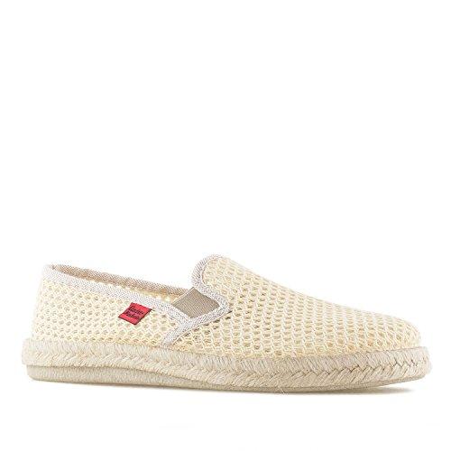 Andres Machado.AM500.Zapatos Clásicos, Piel con Cordones.Grandes Talla de la 46a la 51, Beige (RejillaBeige), 48 EU