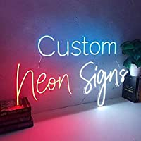 Party Planet Custom Name Neon Sign Board Decorative All Personalized Options with Adaptor (4 Letters ( 8 X 12 Inches)