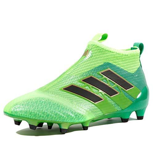 Ace 17+ Kids Pure Control FG Football Boots - Solar Green/Core Black/Core Green - Size 4